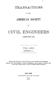 Cover of the book Transactions of the American Society of Civil Engineers, Vol. LXX, December, 1910 by American Society of Civil Engineers