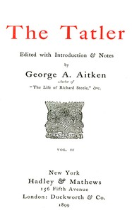 Cover of the book The Tatler, Volume Two by Various