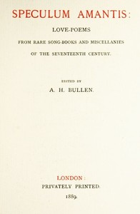 Cover of the book Speculum Amantis by Various