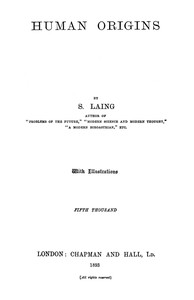Cover of the book Human Origins by S. (Samuel) Laing