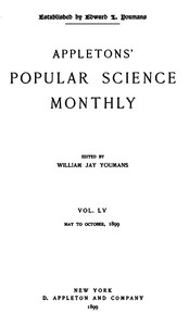 Cover of the book Appletons' Popular Science Monthly, September 1899 by Various
