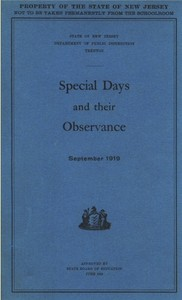 Cover of the book Special Days and their Observance by Anonymous