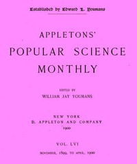 Cover of the book Appletons' Popular Science Monthly, Vol. 56, March 1900 by Various