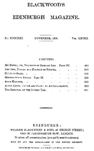 Cover of the book Blackwood's Edinburgh Magazine, Volume 68, No. 421, November 1850 by Various