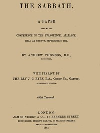 Cover of the book The Sabbath by Andrew Thomson