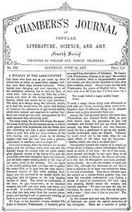 Cover of the book Chambers's Journal of Popular Literature, Science, and Art, No. 703 by Various
