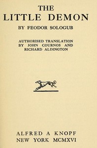 Cover of the book The Little Demon by Feodor Sologub