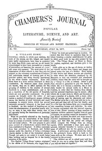 Cover of the book Chambers's Journal of Popular Literature, Science, and Art, No. 707, July 14, 1877 by Various