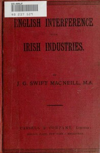 cover for book English Interference with Irish Industries