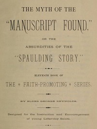 Cover of the book The Myth of the Manuscript Found by George W. M. (George William MacArthur) Reynolds
