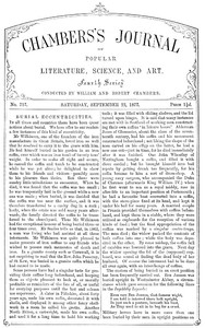 Cover of the book Chambers's Journal of Popular Literature, Science, and Art, No. 717, September 22, 1877 by Various