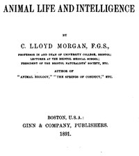 Cover of the book Animal Life and Intelligence by C. Lloyd (Conwy Lloyd) Morgan