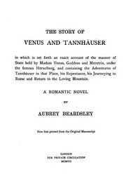 Cover of the book The Story of Venus and Tannhäuser by Aubrey Beardsley