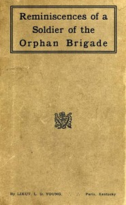 cover for book Reminiscences of a Soldier of the Orphan Brigade
