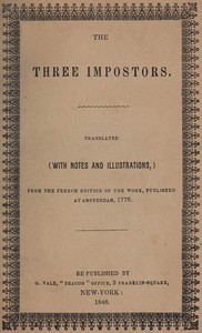 Cover of the book The Three Impostors by Anonymous