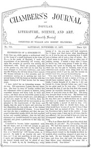 Cover of the book Chambers's Journal of Popular Literature, Science, and Art, No. 725, November 17, 1877 by Various