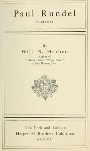 Cover of the book Paul Rundel by Will N. (Will Nathaniel) Harben