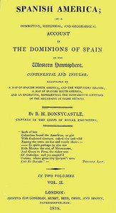 cover for book Spanish America, Vol. II (of 2)