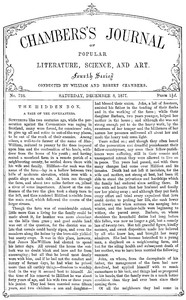Cover of the book Chambers's Journal of Popular Literature, Science, and Art, No. 728, December 8, 1877 by Various