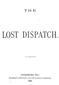 Cover of the book The Lost Dispatch by Anonymous