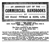 cover for book An abridged list of Commercial Handbooks of Sir Isaac Pitman & Sons, Ltd.