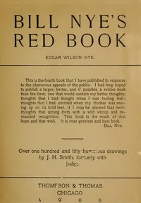 Cover of the book Bill Nye's Red Book by Edgar Wilson Nye AKA Bill Nye