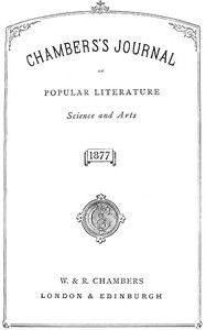 Cover of the book Chambers's Journal of Popular Literature, Science, and Art, Index for 1877 by Various