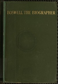cover for book Boswell the Biographer