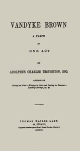 Cover of the book Vandyke Brown by Adolphus Charles Troughton