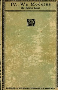 Cover of the book We Moderns by H. L. (Henry Louis) Mencken