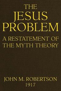 Cover of the book The Jesus Problem by J. M. (John Mackinnon) Robertson