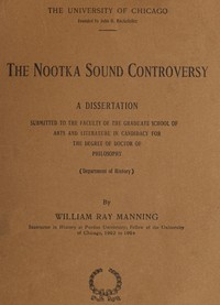 cover for book The Nootka Sound Controversy