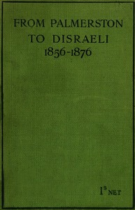 cover for book From Palmerston to Disraeli (1856-1876)
