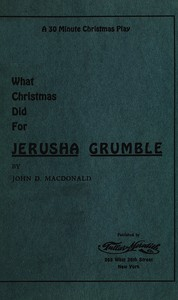 cover for book What Christmas Did for Jerusha Grumble
