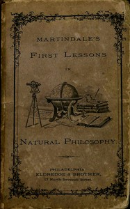 cover for book First Lessons in Natural Philosophy