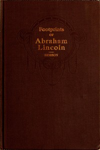 cover for book Footprints of Abraham Lincoln