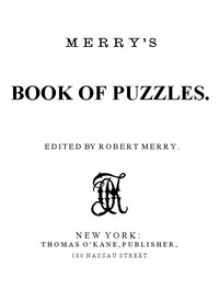 cover for book Merry's Book of Puzzles