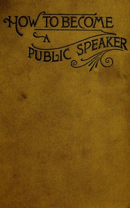 cover for book How to Become a Public Speaker