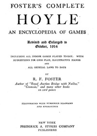 cover for book Foster's Complete Hoyle
