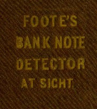 cover for book The Universal Counterfeit and Bank Note Detector at Sight