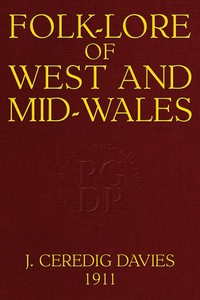 cover for book Folk-Lore of West and Mid-Wales