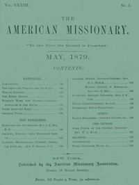 cover for book The American Missionary — Volume 33, No. 05, May, 1879