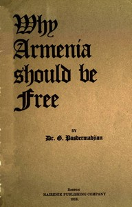 cover for book Why Armenia Should Be Free