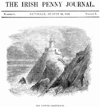 cover for book The Irish Penny Journal, Vol. 1 No. 8, August 22, 1840