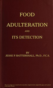 cover for book Food Adulteration and its Detection
