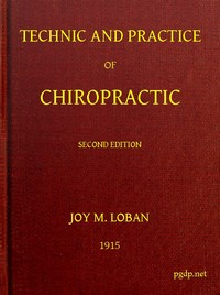 cover for book Technic and Practice of Chiropractic