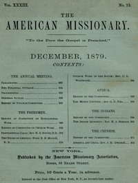 cover for book The American Missionary — Volume 33, No. 12, December 1879