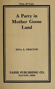 cover for book A Party in Mother Goose Land