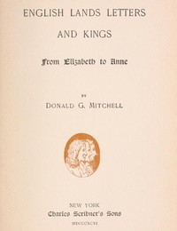 cover for book English Lands Letters and Kings: From Elizabeth to Anne