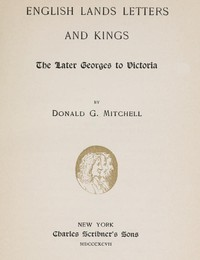 cover for book English Lands Letters and Kings: The Later Georges to Victoria